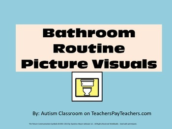 Special Education Bathroom Routine Picture Visuals- Large (Autism)