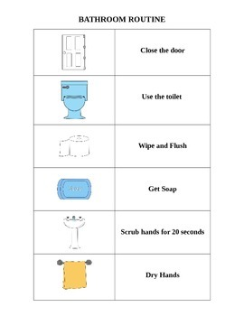 Bathroom Routine (editable)