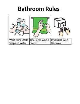 Bathroom Rules Visual Aid - Autism
