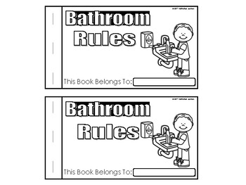 Bathroom Rules Book (Beginning of the Year Restroom Rules)
