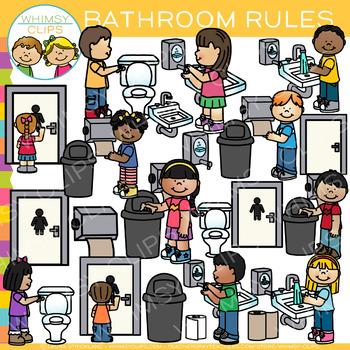 Bathroom Rules Clip Art