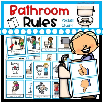 Bathroom Rules Pocket Chart Sort Beginning Of The Year