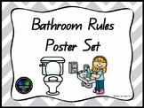 Bathroom Rules - Poster Set (QLD FONT)