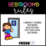 Bathroom Rules Posters