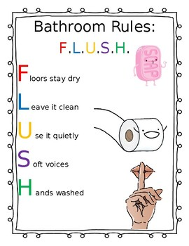 Bathroom Rules Printout