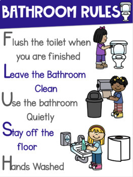 Bathroom Rules Sign ~BOYS and GIRLS signs included~