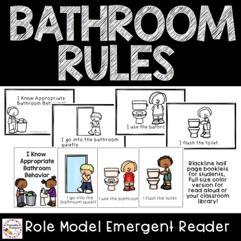 Bathroom Rules {Emergent Reader and Sorting}