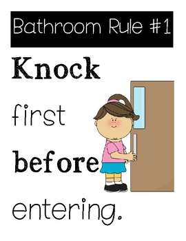 Bathroom Rules For Students By Live Love Learn With Ms V Tpt