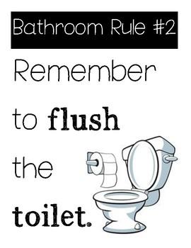 Bathroom Rules bathroom rules for studentskinder konnection with ms v | tpt