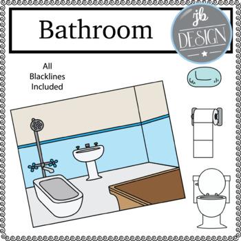 Bathroom Scene (JB Design Clip Art for Personal or Commercial Use)
