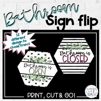 Bathroom Sign Flip