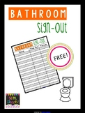 FREE Bathroom Sign-Out