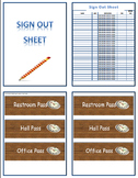 Bathroom Sign Out Sheet Packet