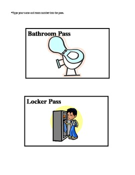 Bathroom Sign Out Sheet With Hall Passes