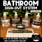 Bathroom Sign-Out System--EDITABLE