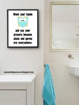Religion Education Bathroom Sign ~ Special Education Autis