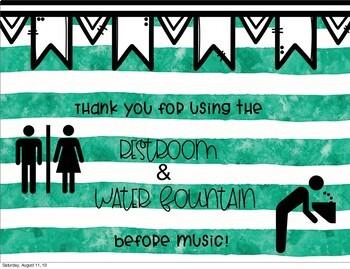 Bathroom Sign for Related Arts Teachers