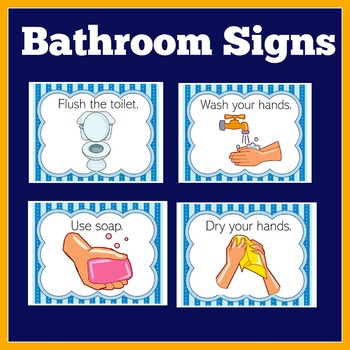 Bathroom Rules Signs by Green Apple Lessons | Teachers Pay ...