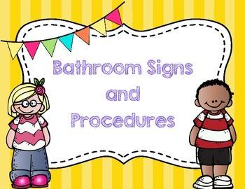 Bathroom Signs & Procedures {English & Spanish}
