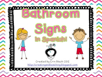 Bathroom Signs In Spanish bathroom signs- spanish versionerin from creating and teaching