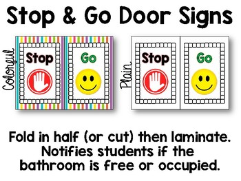 Bathroom Signs and Hall Passes