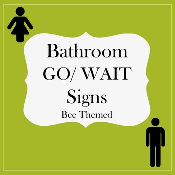 Bathroom Signs (Bee Themed)