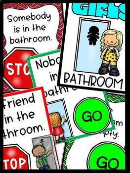 Bathroom Signs for the Classroom or Daycare