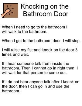 Bathroom Social Story & Activity
