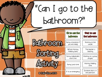 Bathroom Sorting Activity