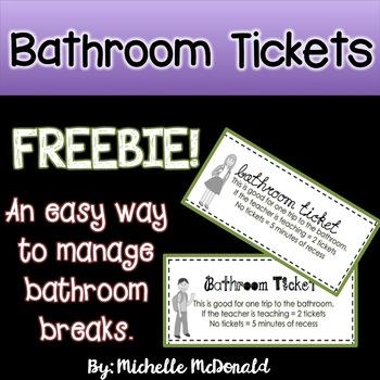 Bathroom Tickets {Freebie}