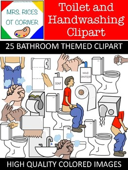 Bathroom/Toileting/Handwashing CLIPART! Social stories, visual aids, schedule, c