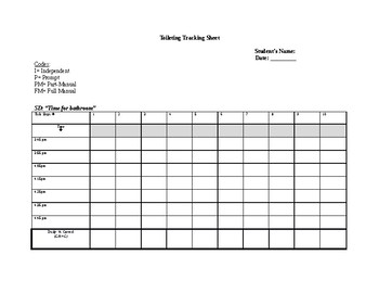 Bathroom/Toileting Tracking Sheet