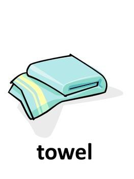 Bathroom Vocabulary Flash Cards
