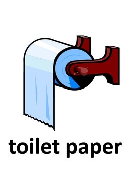 Bathroom Vocabulary Flash Cards