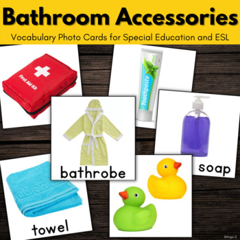 Bathroom Vocabulary Photo Flash Cards for Special Education