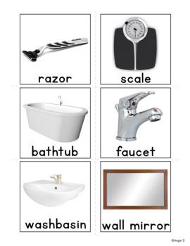 Bathroom Vocabulary Cards for Special Education