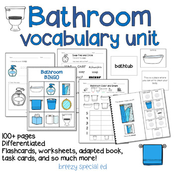 Bathroom Vocabulary Life Skills Unit
