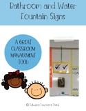 Bathroom/Water Fountain Sign