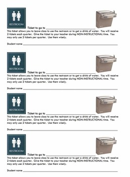 Bathroom / Water Fountain passes