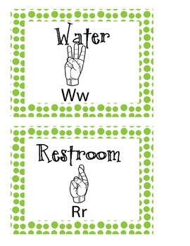 Bathroom and Water Hand Signs