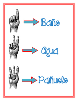 Bathroom behavior sign language spanish