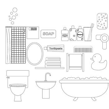 Bathroom clip art (rooms clip art)