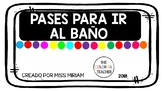 Bathroom passes (Spanish)