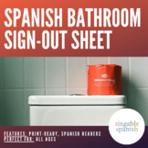 Bathroom sign out sheet (Spanish)