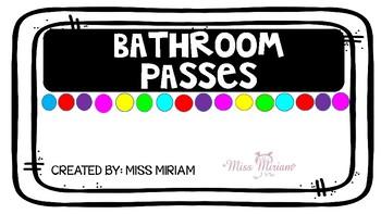 Bathroom/toilet passes