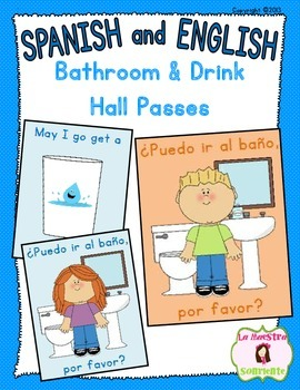 Bathroom/Drink Management Passes (Spanish and English)