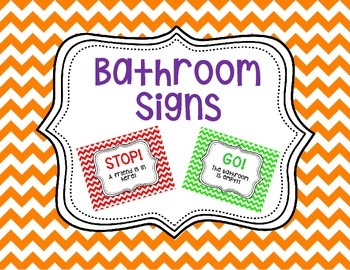 Bathroom/Restroom Signs