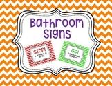 Bathroom/Restroom Signs