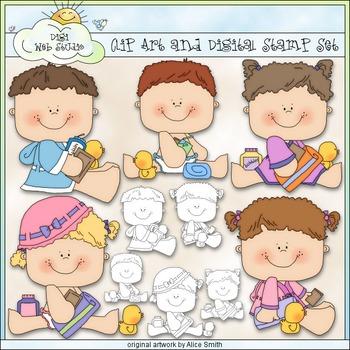 Bathtime Kids 1 - Commercial Use Clip Art & Black & White Images