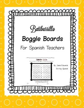 Batiburrillo Spanish Boggle Board :  Los Colores